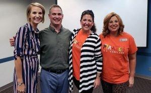 Senator Carri Hicks smiles with members of the Putnam City Classroom Teachers Association
