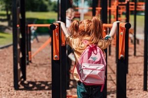 Girl on a playground